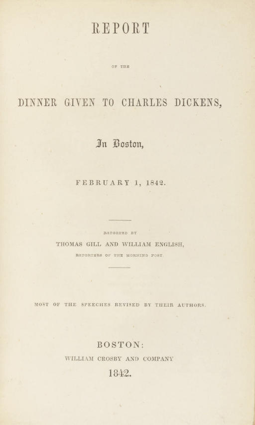 [AMERICAN NOTES]. -- DICKENS,