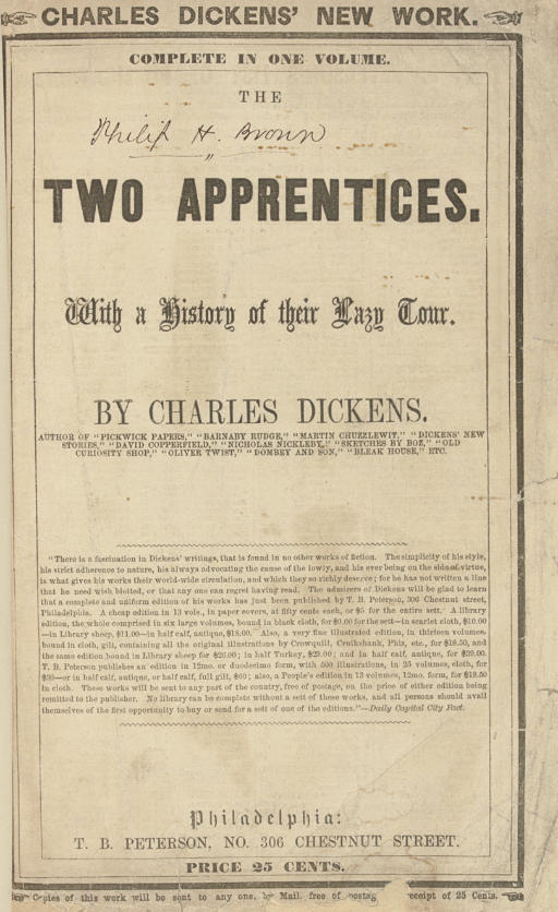 DICKENS, Charles. The Two Appr