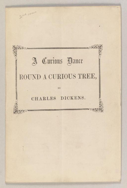 DICKENS, Charles. A Curious Da