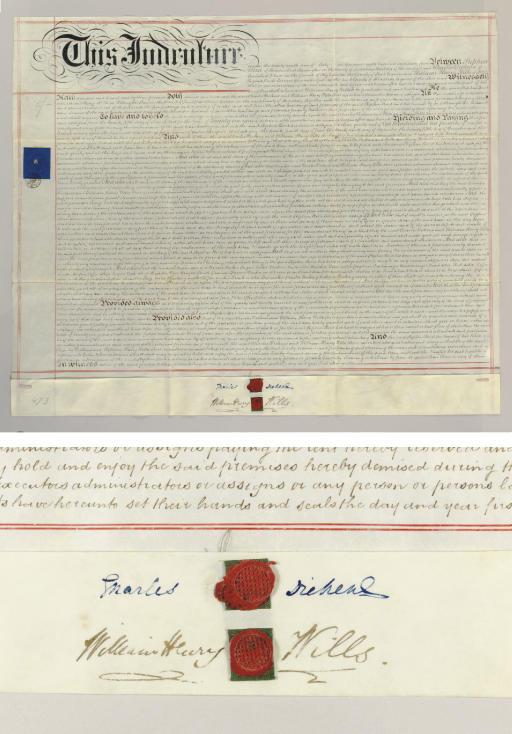 DICKENS, Charles. Manuscript d