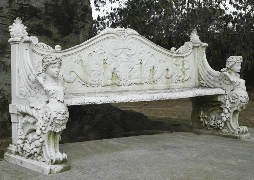 AN ITALIAN WHITE MARBLE GARDEN