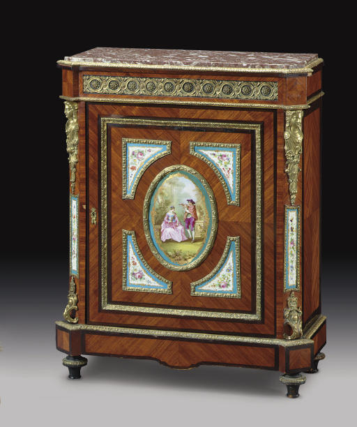 A FRENCH ORMOLU- AND SEVRES ST