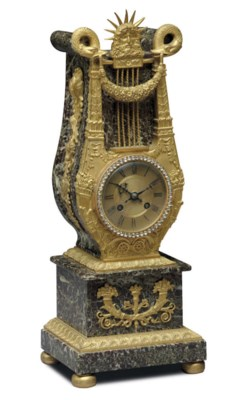 A FRENCH ORMOLU, MARBLE AND 'J