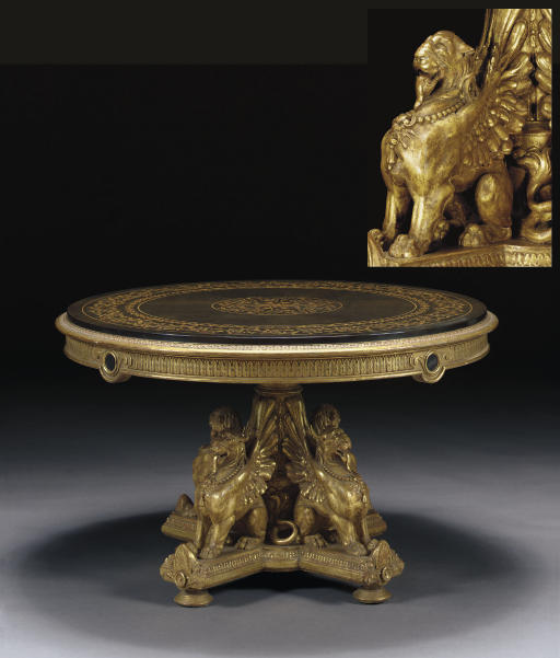 AN ITALIAN GILTWOOD AND MARQUE