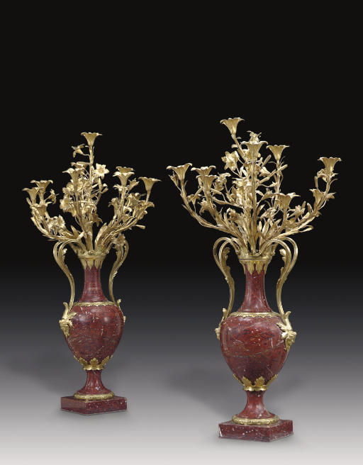 A PAIR OF LARGE FRENCH ORMOLU