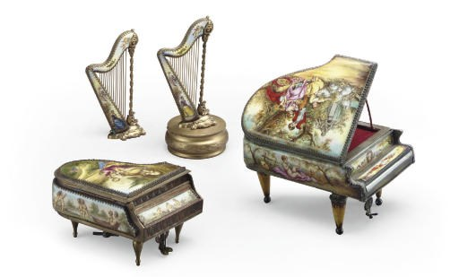 A GROUP OF FOUR VIENNESE GILT-