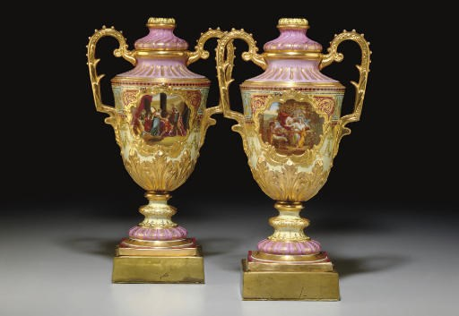 A PAIR OF VIENNA STYLE PALE-YE