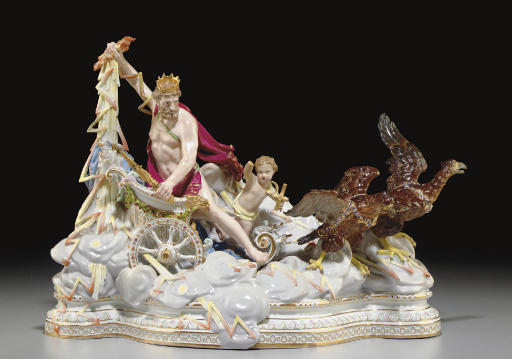 A LARGE MEISSEN MYTHOLOGICAL F