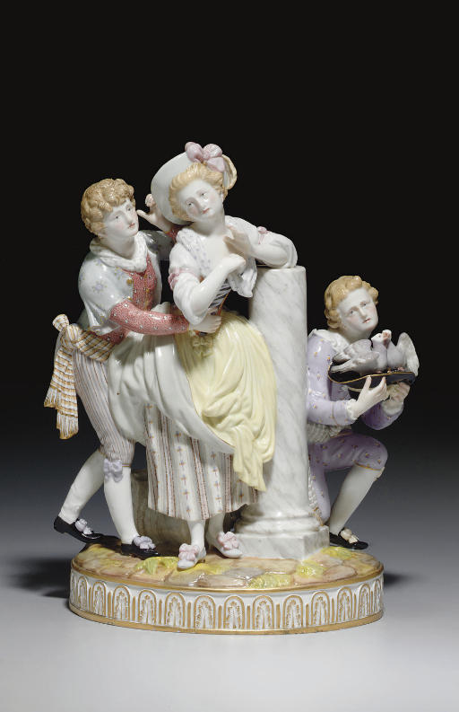 A MEISSEN FIGURE GROUP, 'THE N