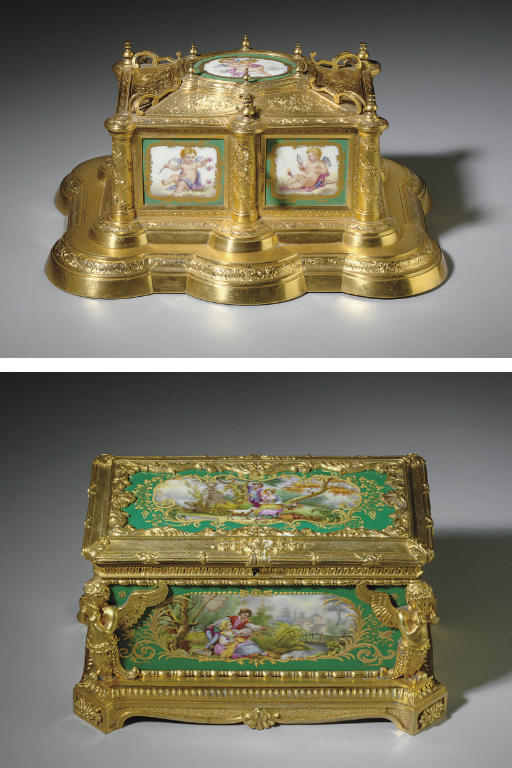 TWO ORMOLU-MOUNTED SEVRES STYL