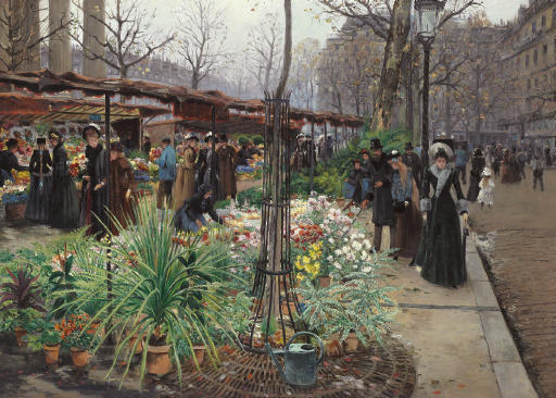 A Flower Market, Paris