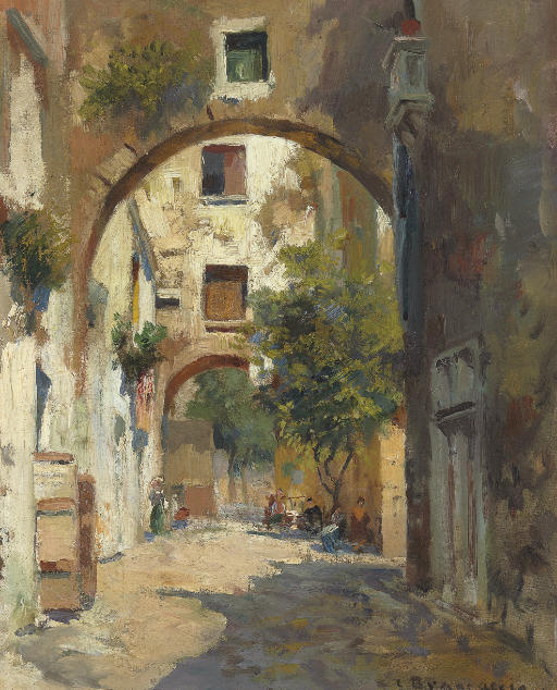 A Shady Street in Naples