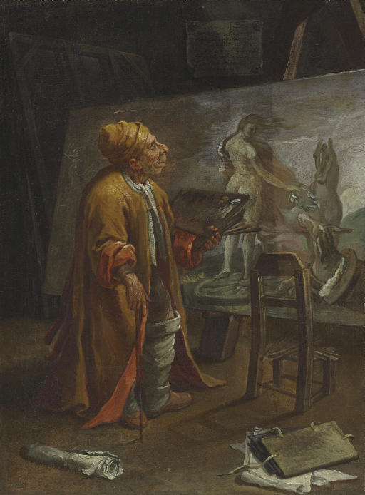 Paolo de Matteis in his Studio