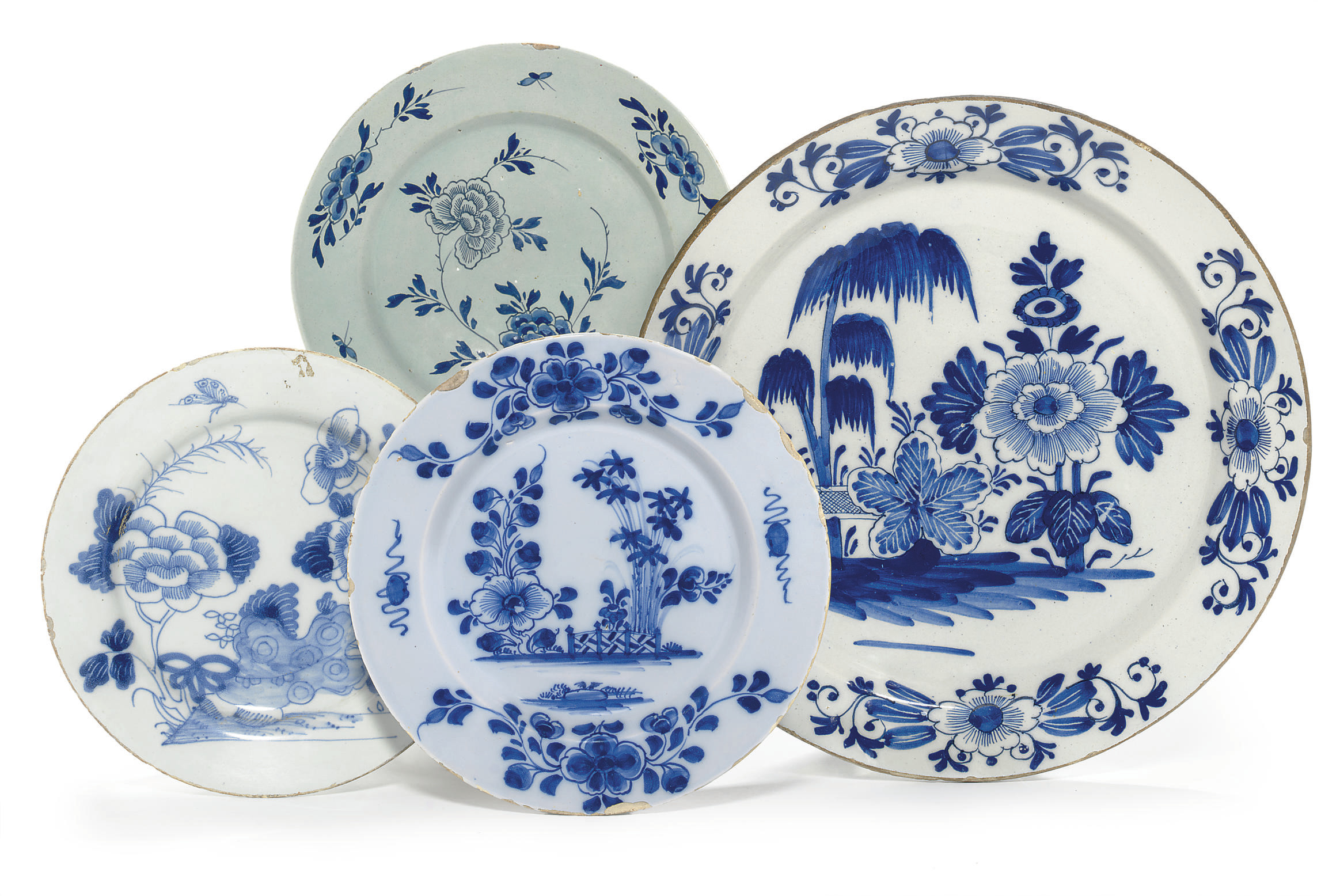 A DUTCH DELFT CHARGER AND THRE