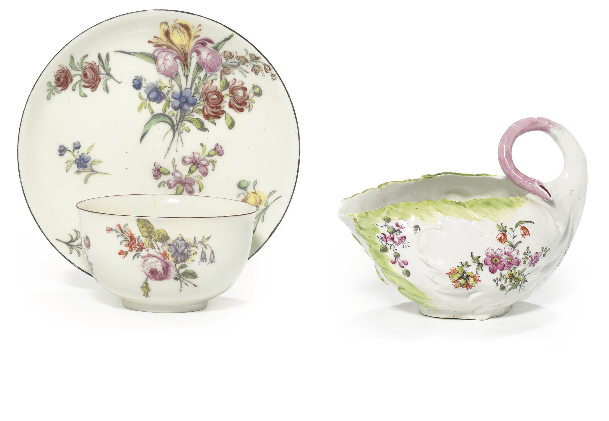 A CHELSEA TEABOWL AND SAUCER A