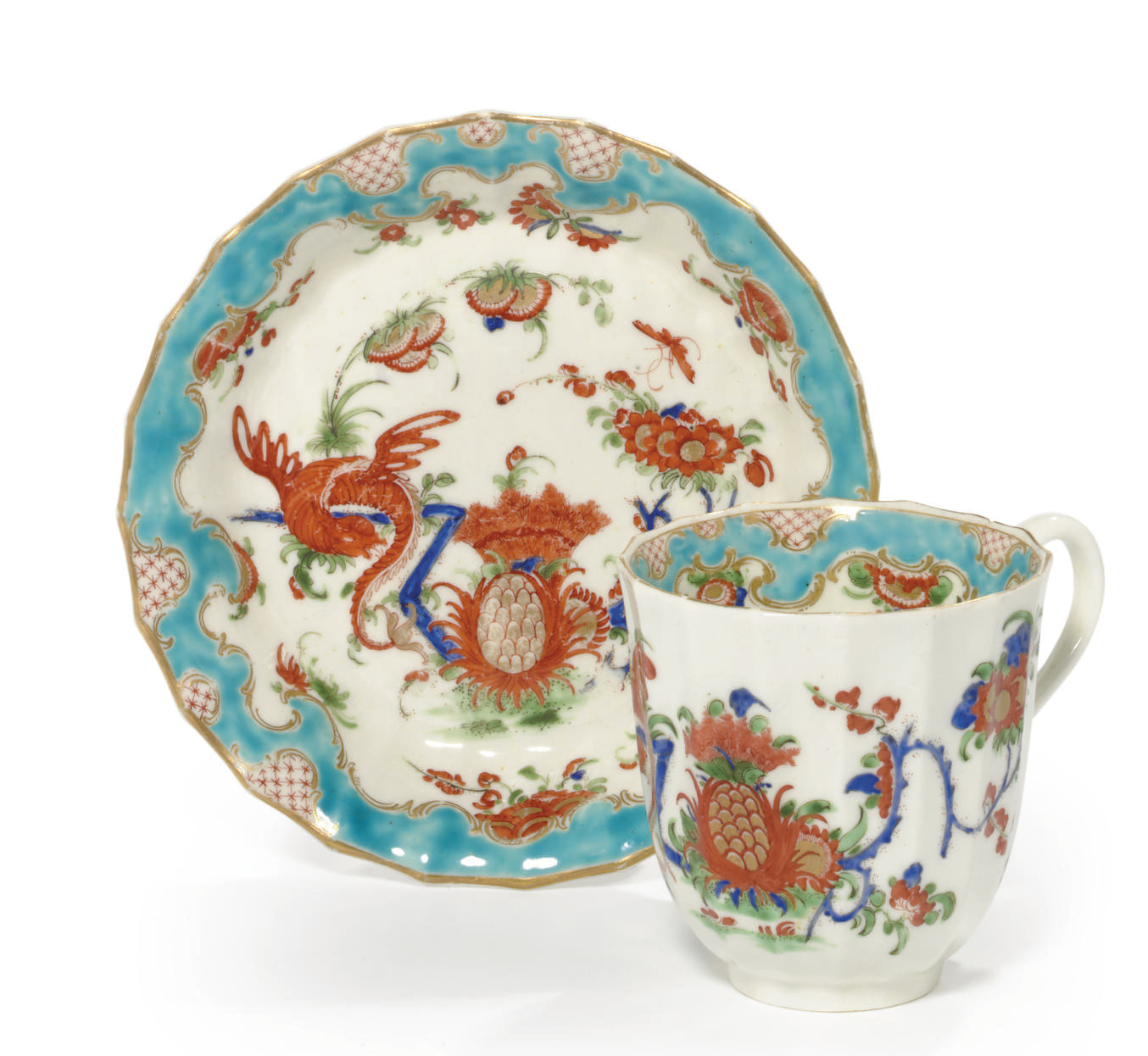 A WORCESTER CUP AND SAUCER