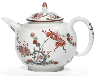 A BÖTTGER KAKIEMON TEAPOT AND