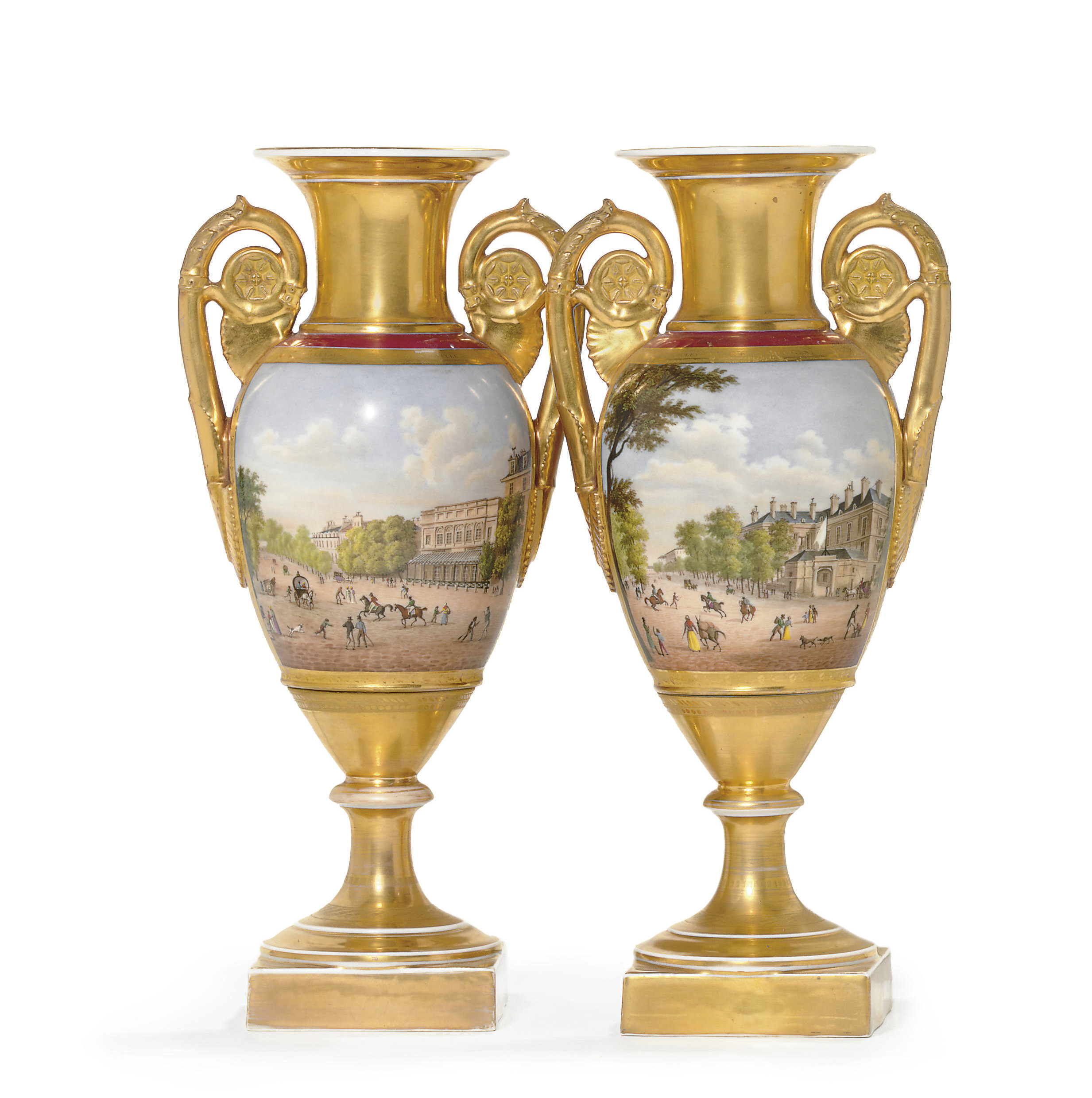 A PAIR OF PARIS TOPOGRAPHICAL