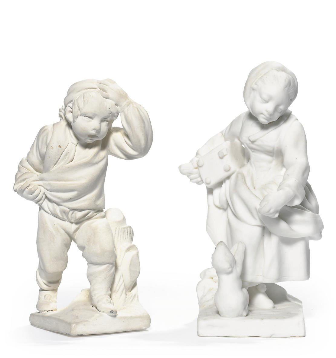 TWO SEVRES BISCUIT FIGURES OF