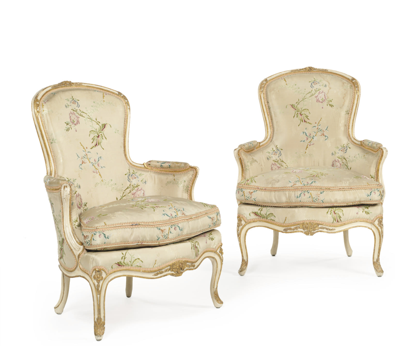 A PAIR OF LOUIS XV WHITE-PAINT