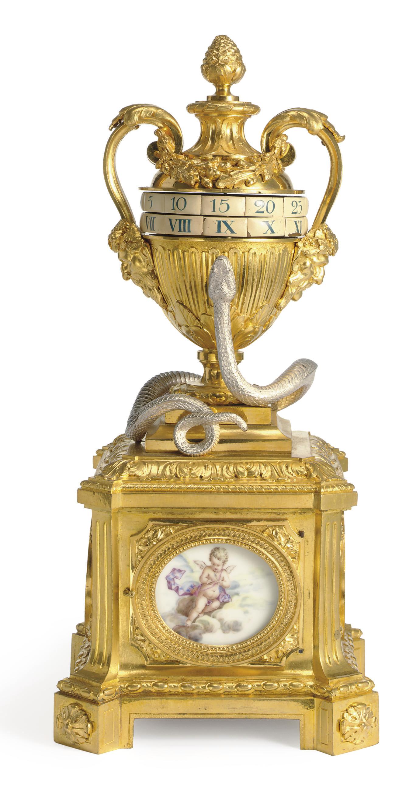 A LATE LOUIS XV ORMOLU, SILVER