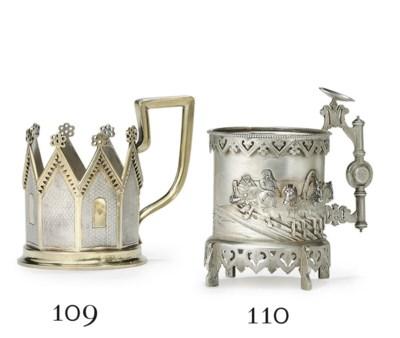 A Parcel-Gilt Silver Tea Glass