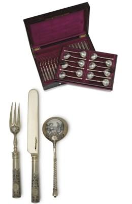 A Silver-Gilt and Niello Desse
