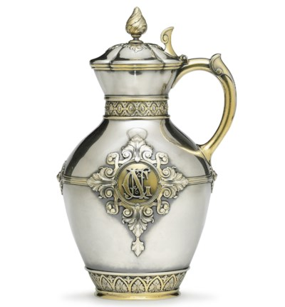 A Parcel-Gilt Silver Covered J