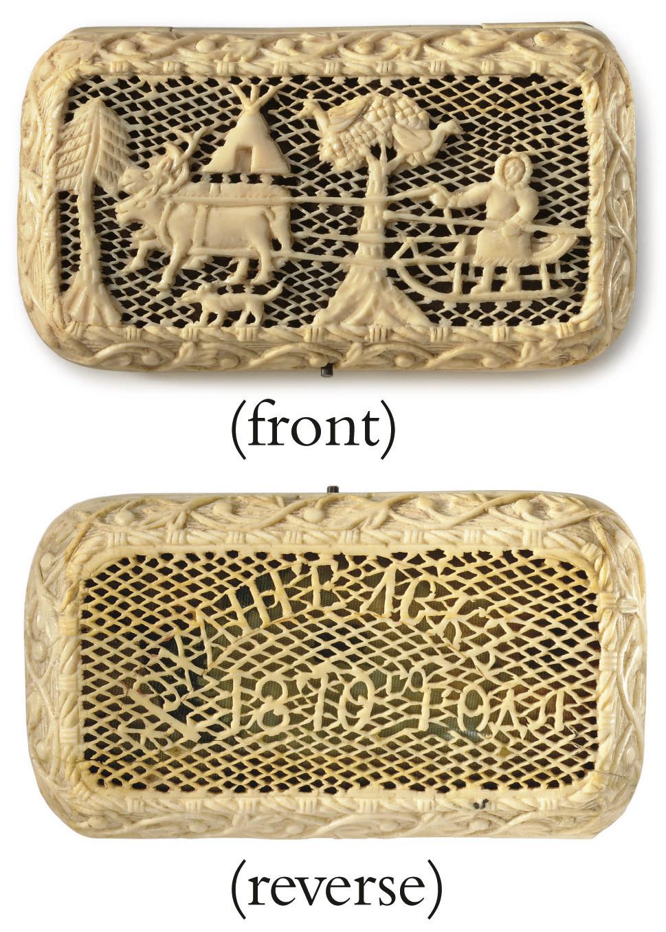 A Carved Ivory Cigarette Case