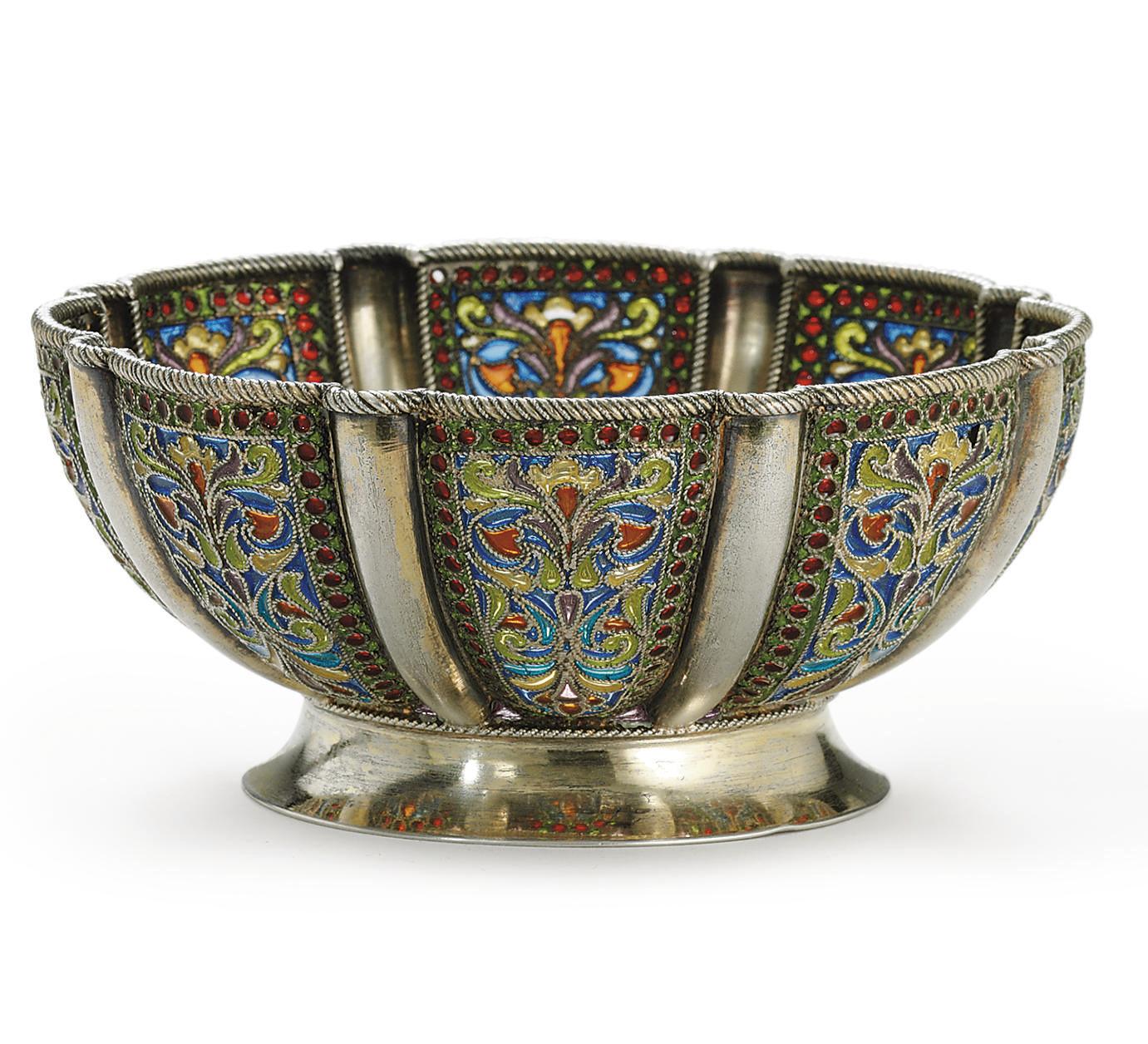 A Silver-Gilt and Plique-á-Jou