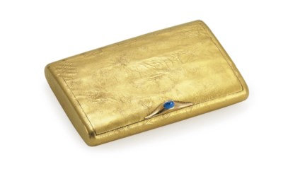 A Gold Samorodok Cigarette Cas