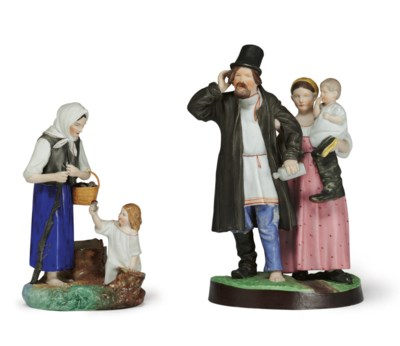A Porcelain Group of a Family