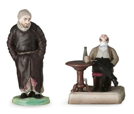 A Porcelain Figure of Pliushki