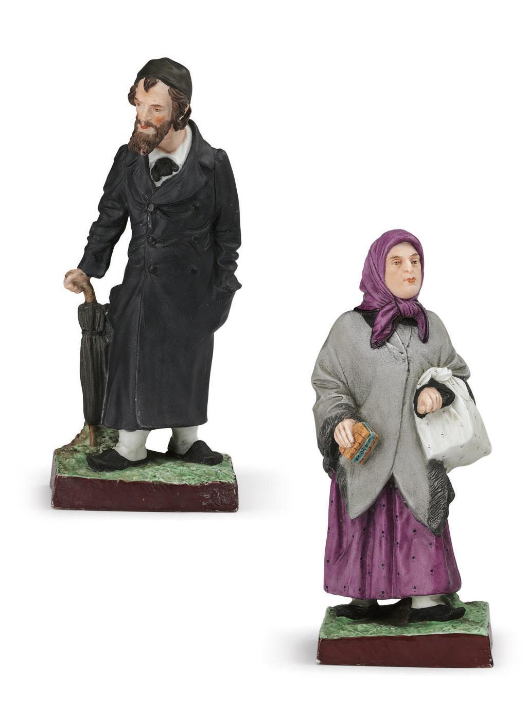 A Porcelain Figure of a Jew an