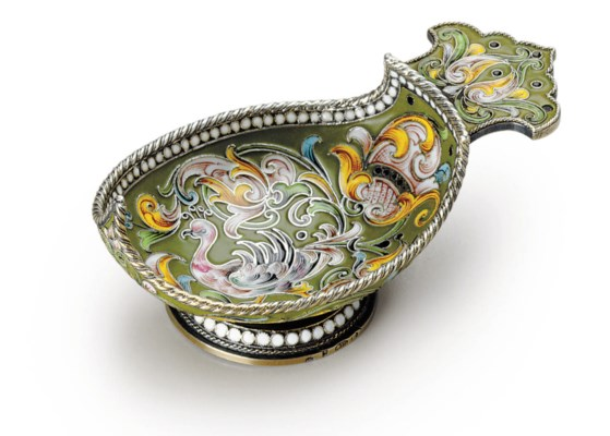 A Silver and Cloisonné Enamel