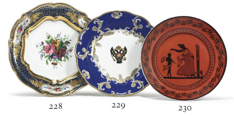 A Porcelain Dinner Plate