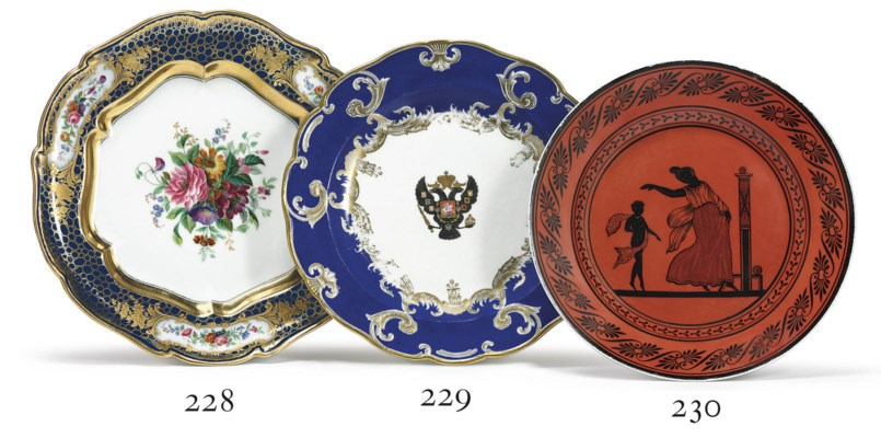 A Porcelain Plate from the Etr
