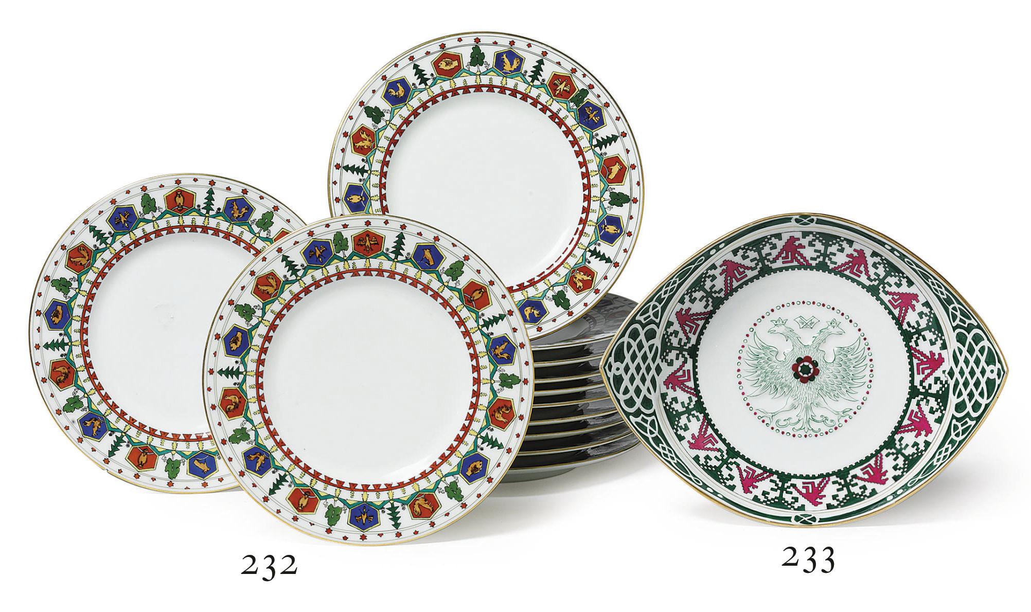 A Set of Twelve Porcelain Dess