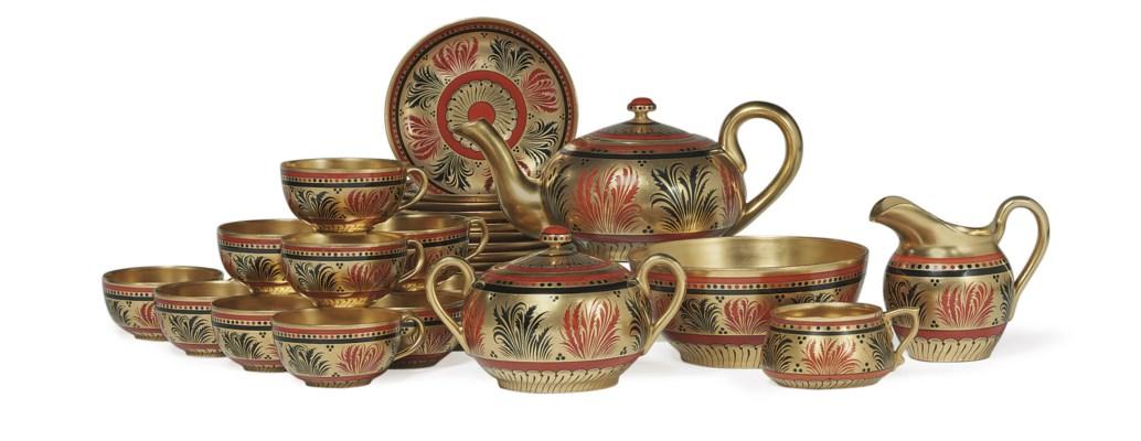 A Porcelain Part Tea Service