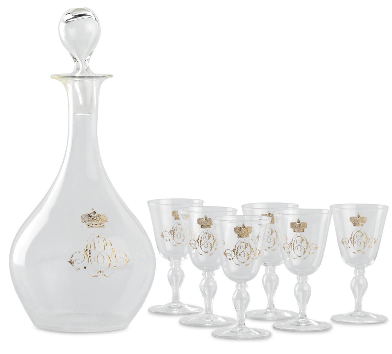 A Colorless Glass Liqueur Set