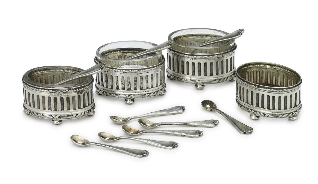 A Set of Four Silver Salt Cell