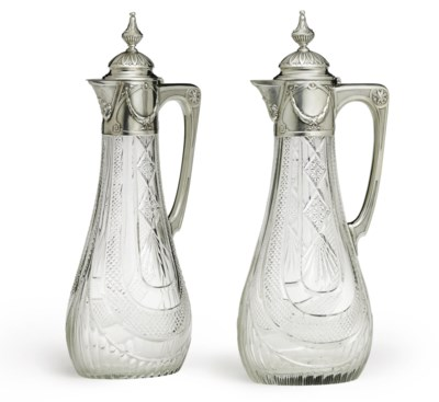 A Pair of Silver-Mounted Cut G