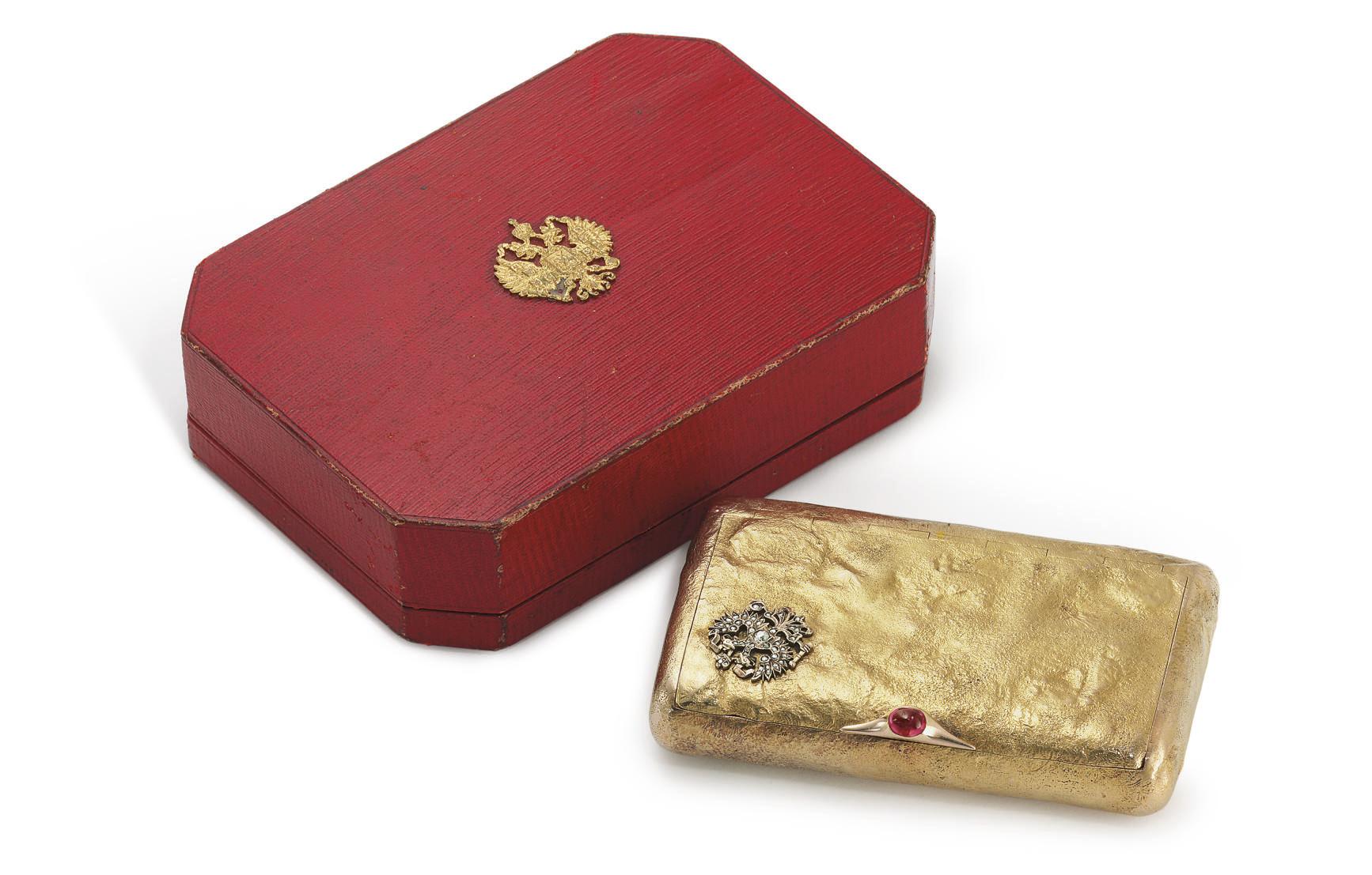 A Jeweled Gold Samorodok Prese