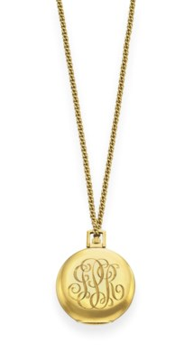 A GOLD POCKETWATCH, BY CARTIER