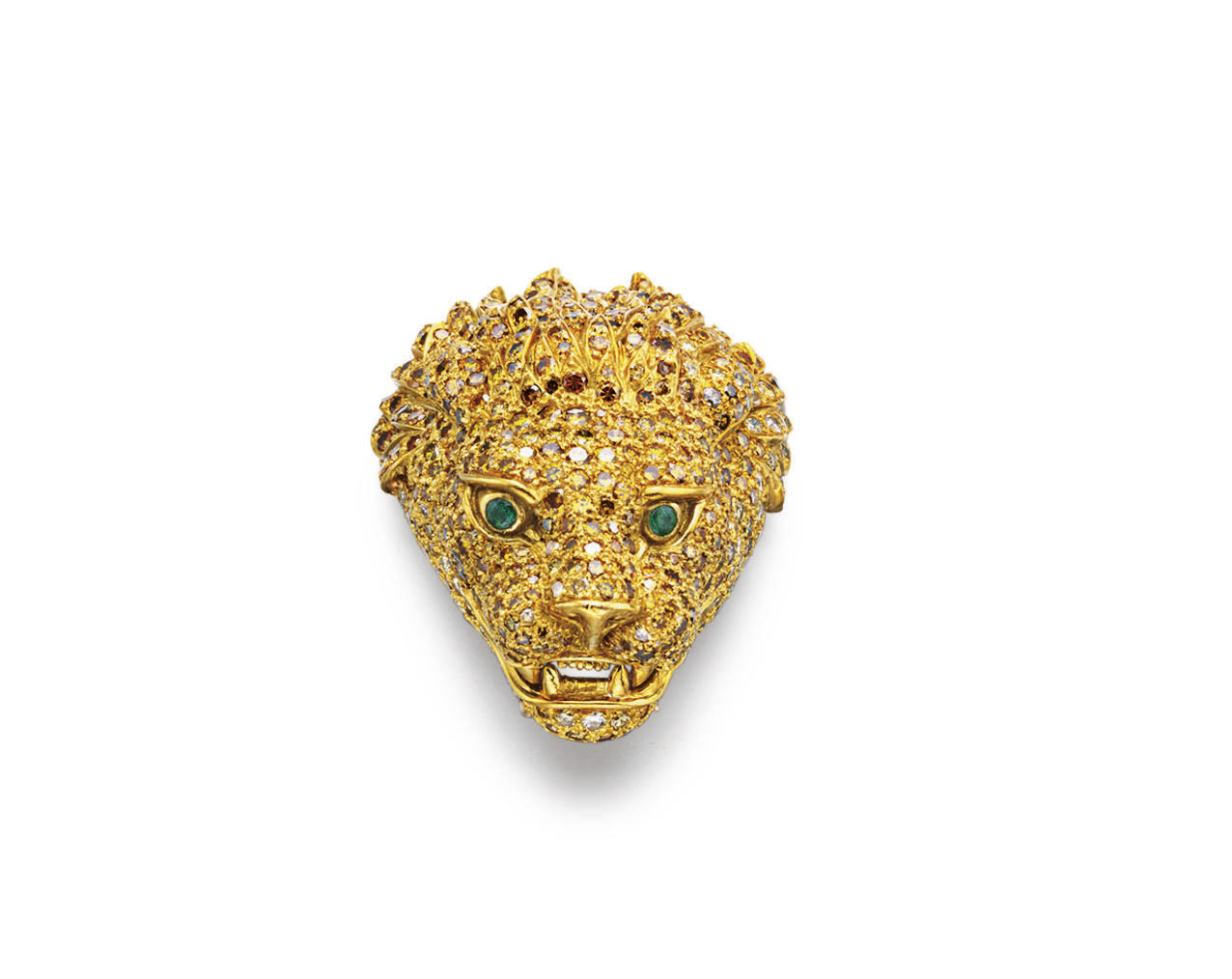 A COLORED DIAMOND AND EMERALD