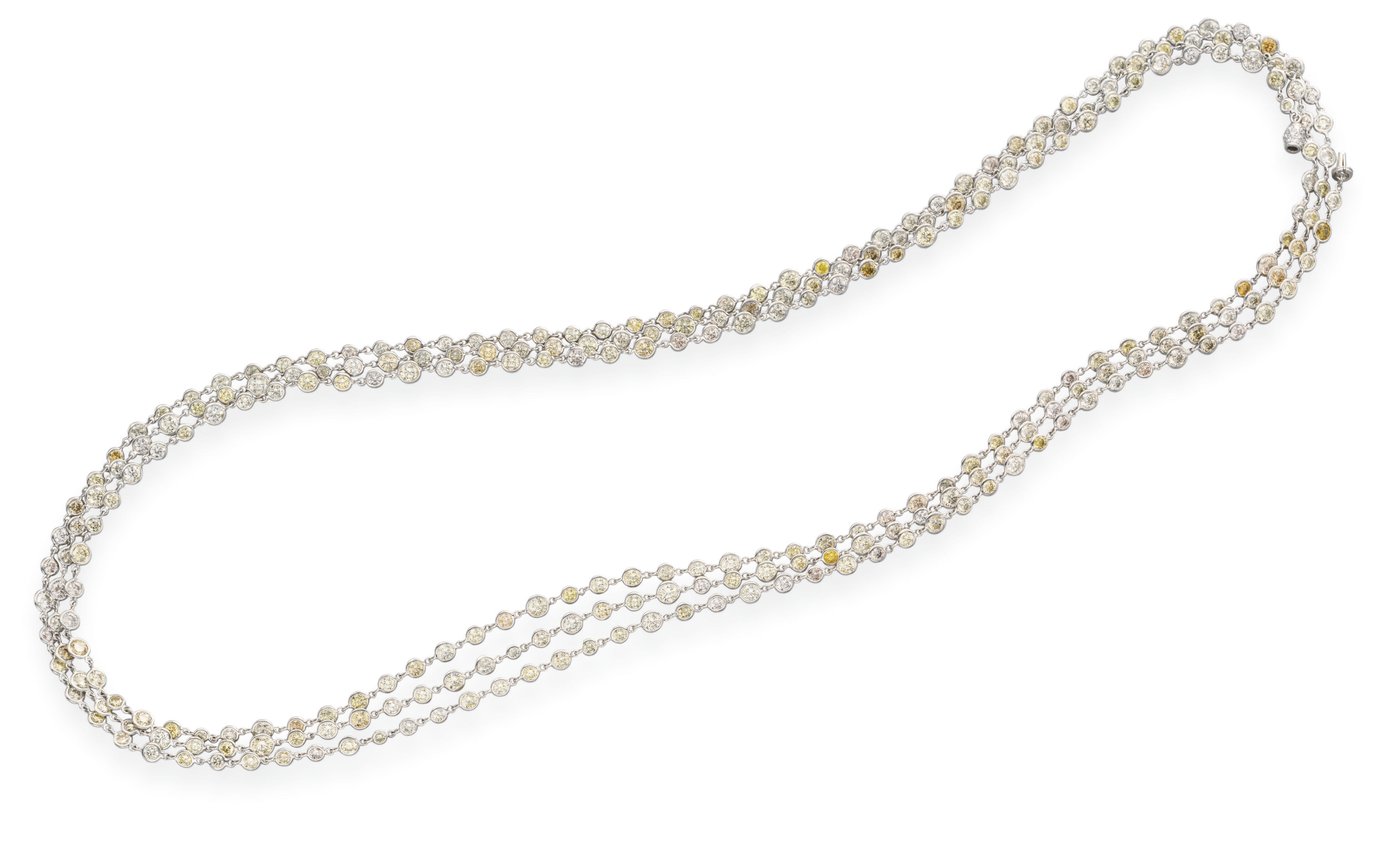 A COLORED DIAMOND LONGCHAIN NE