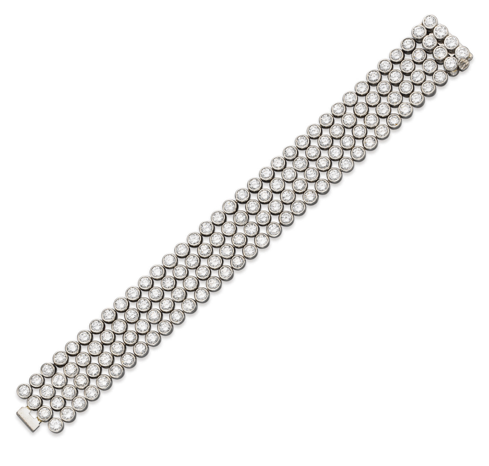 A DIAMOND BRACELET, BY HARRY W