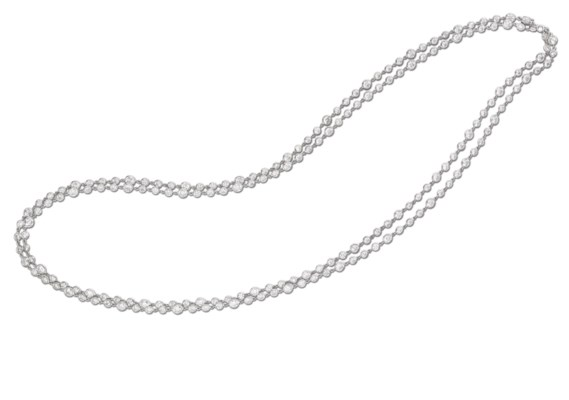 A DIAMOND LONGCHAIN NECKLACE