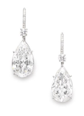 A PAIR OF EXCEPTIONAL DIAMOND