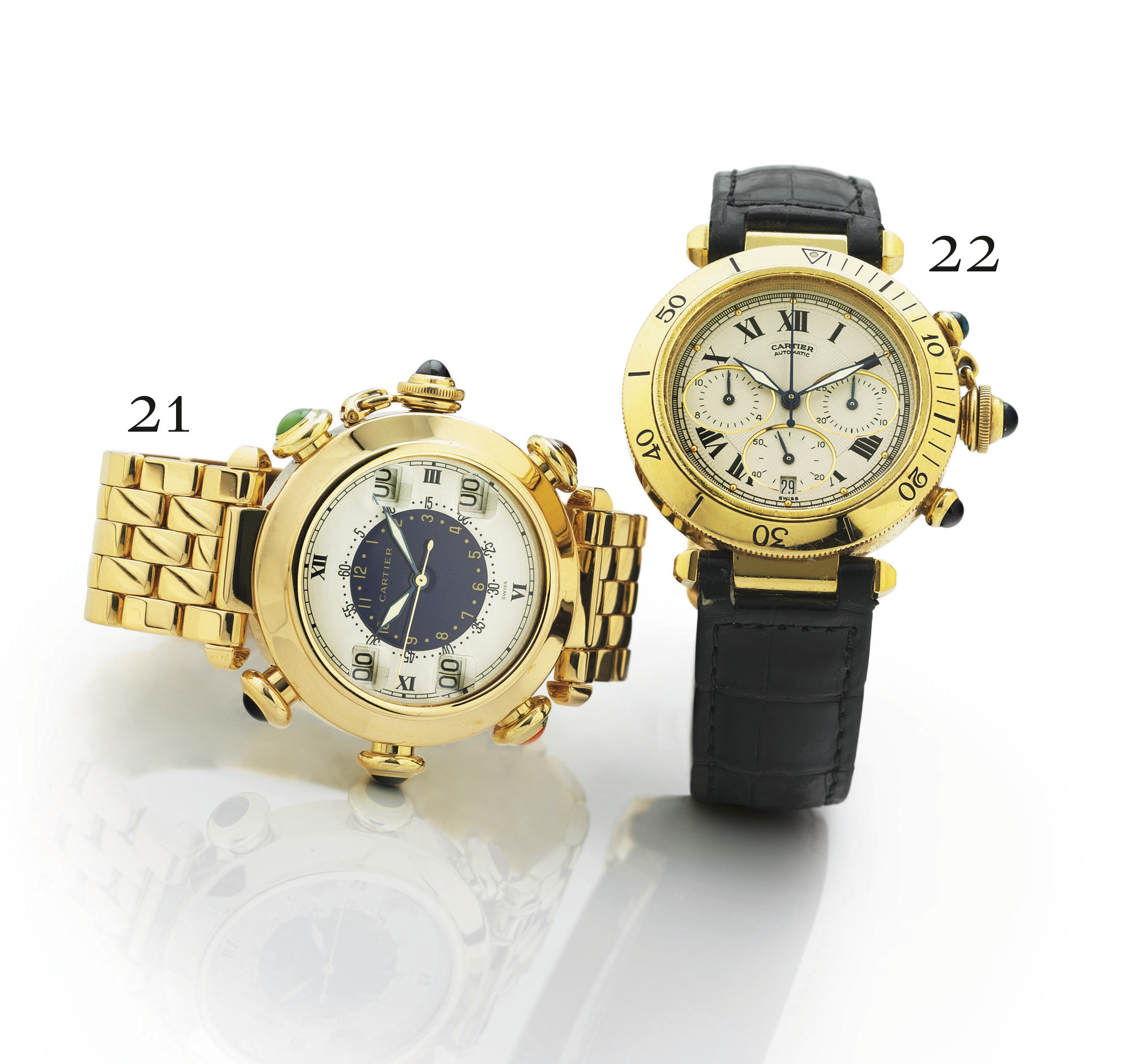 CARTIER. A RARE AND UNUSUAL 18